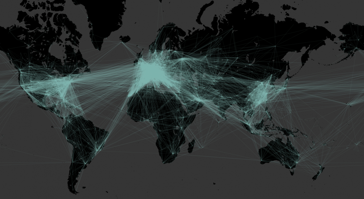 Fig 10 - The Global Connectivity of Sites Around the World