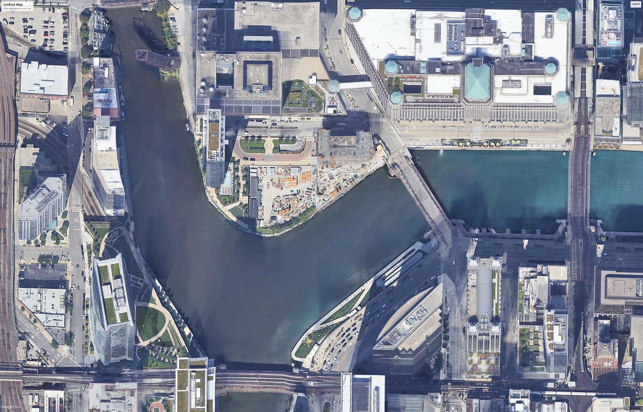 Fig 9 - The New Wolf Point Development - The First Site to be Built Upon in Chicago