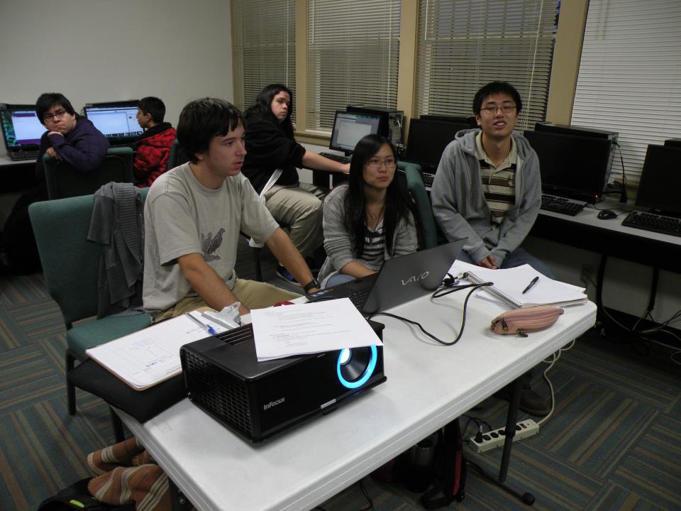 Presentation in community computer lab.