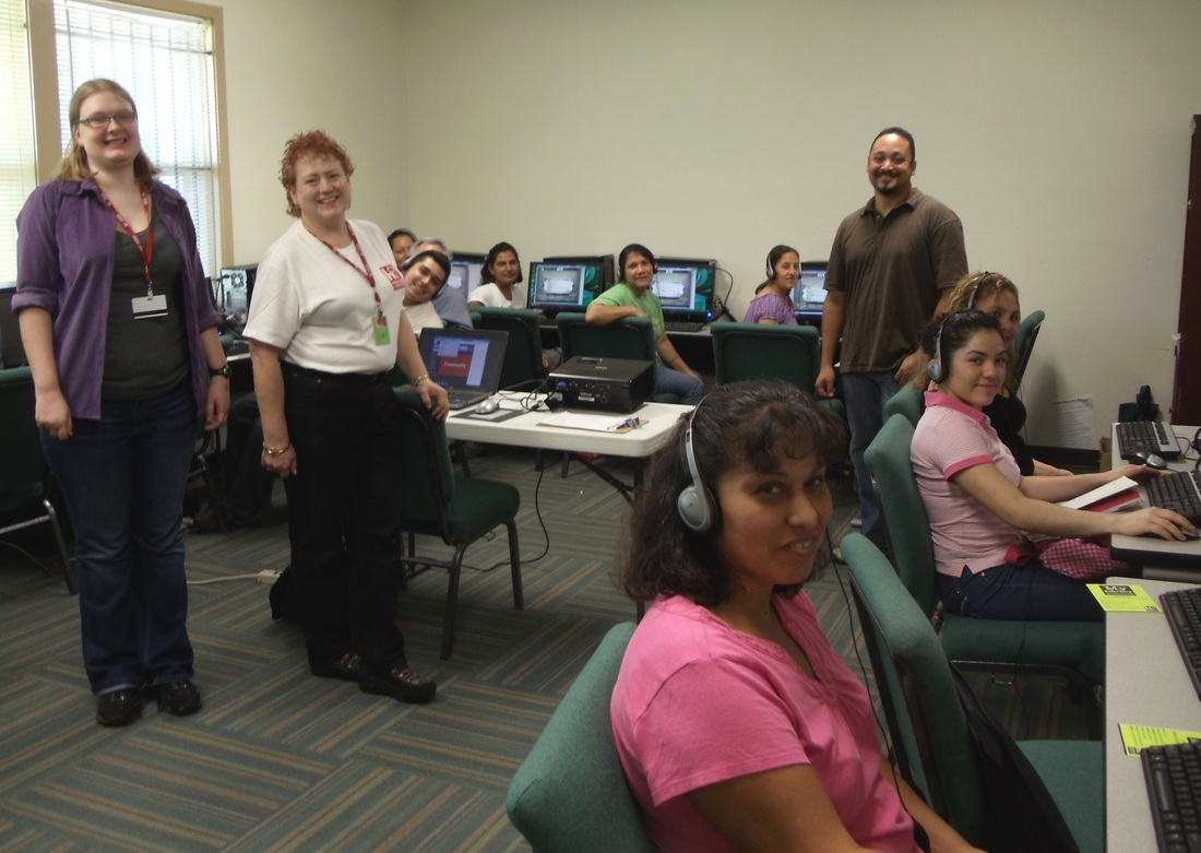 People in a ESL (English as a Second Language) class