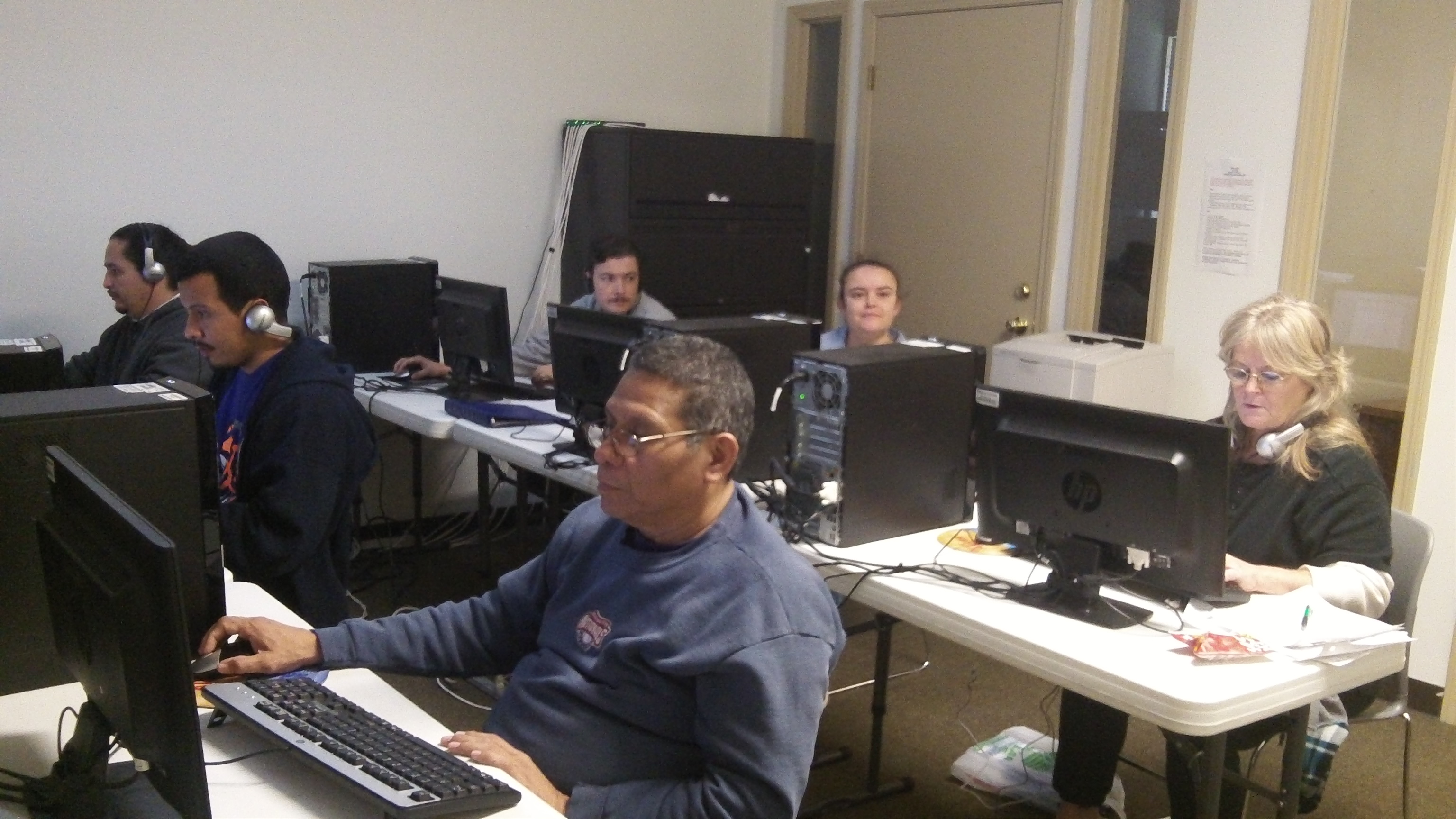 People using our computer lab.