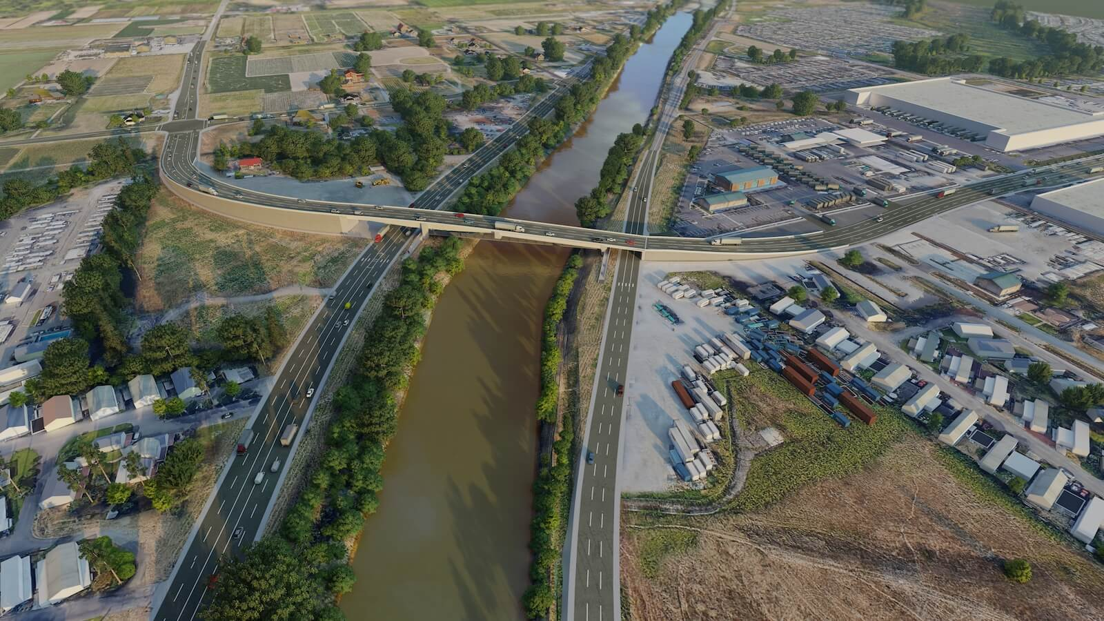 Visualization of the future bridge over the Puyallup River