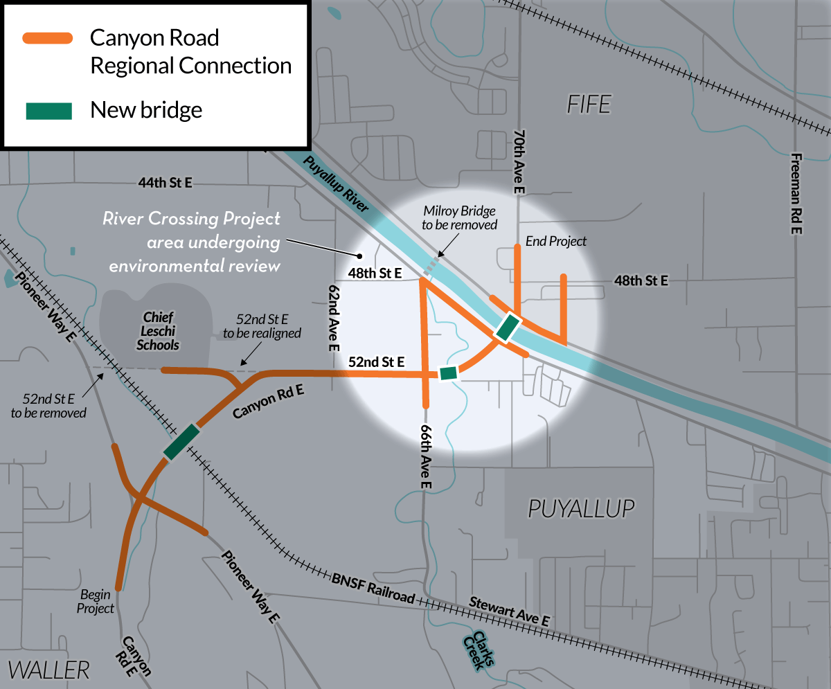 River Crossing Project overview map