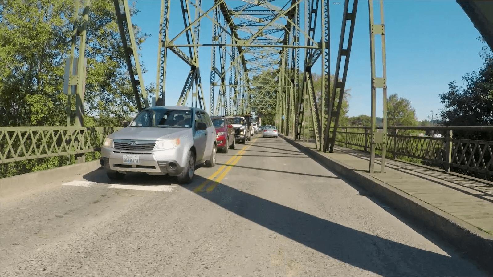 Entering Milroy Bridge