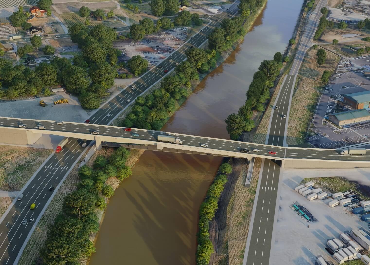 Visualization of the future bridge over the Puyallup River