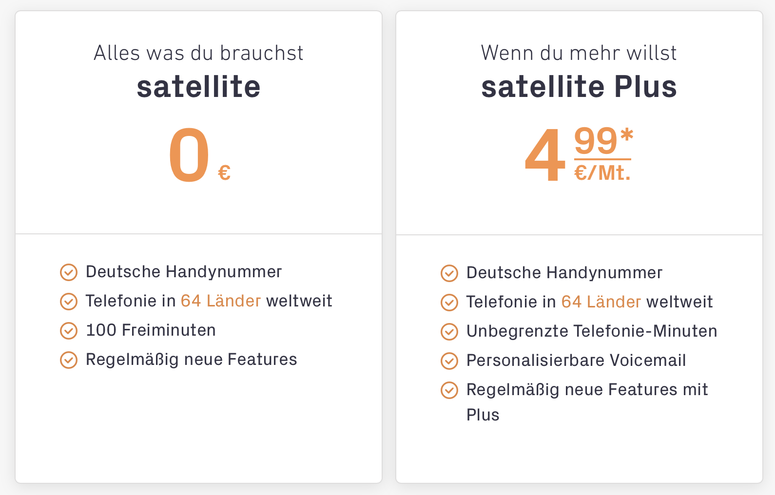 Satellite Telefon App Alternative