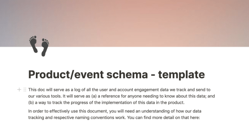 Notion schema tracking template