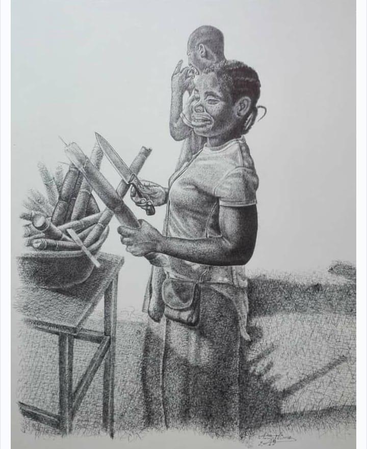 Vendendora ambulante