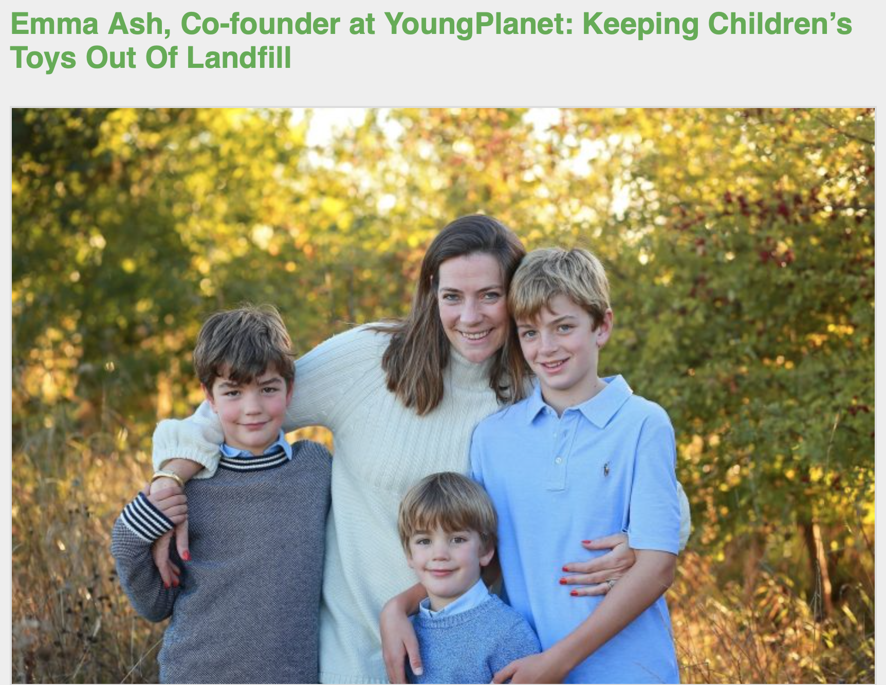 Co-founder Emma shares more about YoungPlanet and her advice for other aspiring female entrepreneurs in an interview with TechRound.