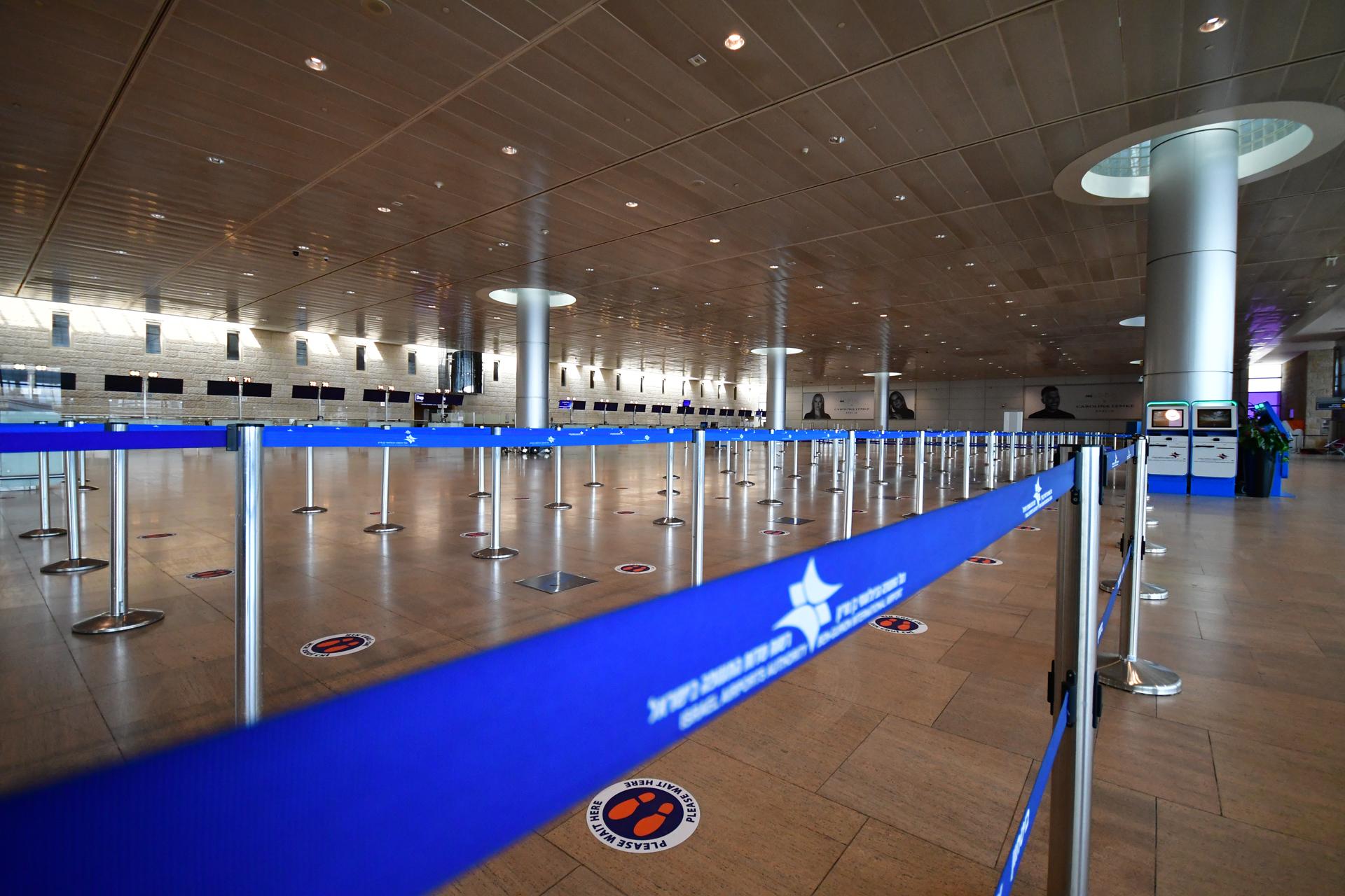 שדה התעופה בן גוריון - סגר שני - קורונה- הפס הכחול - יואל שתרוג - אדמה יוצרת - yoel sitruk