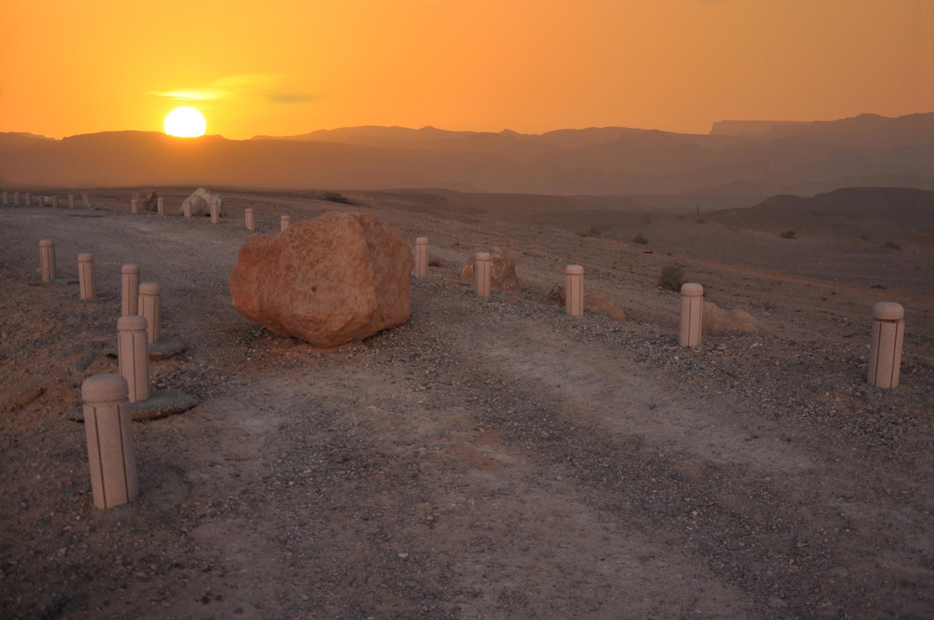 יואל שתרוג - אדמה יוצרת - yoel sitruk -שקיעה- חלום במדבר - ערבה