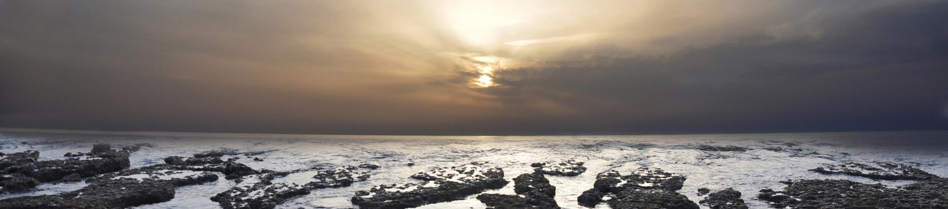 יואל שתרוג - אדמה יוצרת - yoel sitruk - לילה בחוף אכזיב - שקיעה - ים