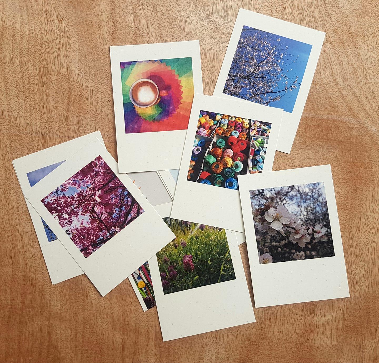 כרטיסי ברכה מעוצבים, נייר ממוחזר, צילום אמנותי, גלויות מעוצבות