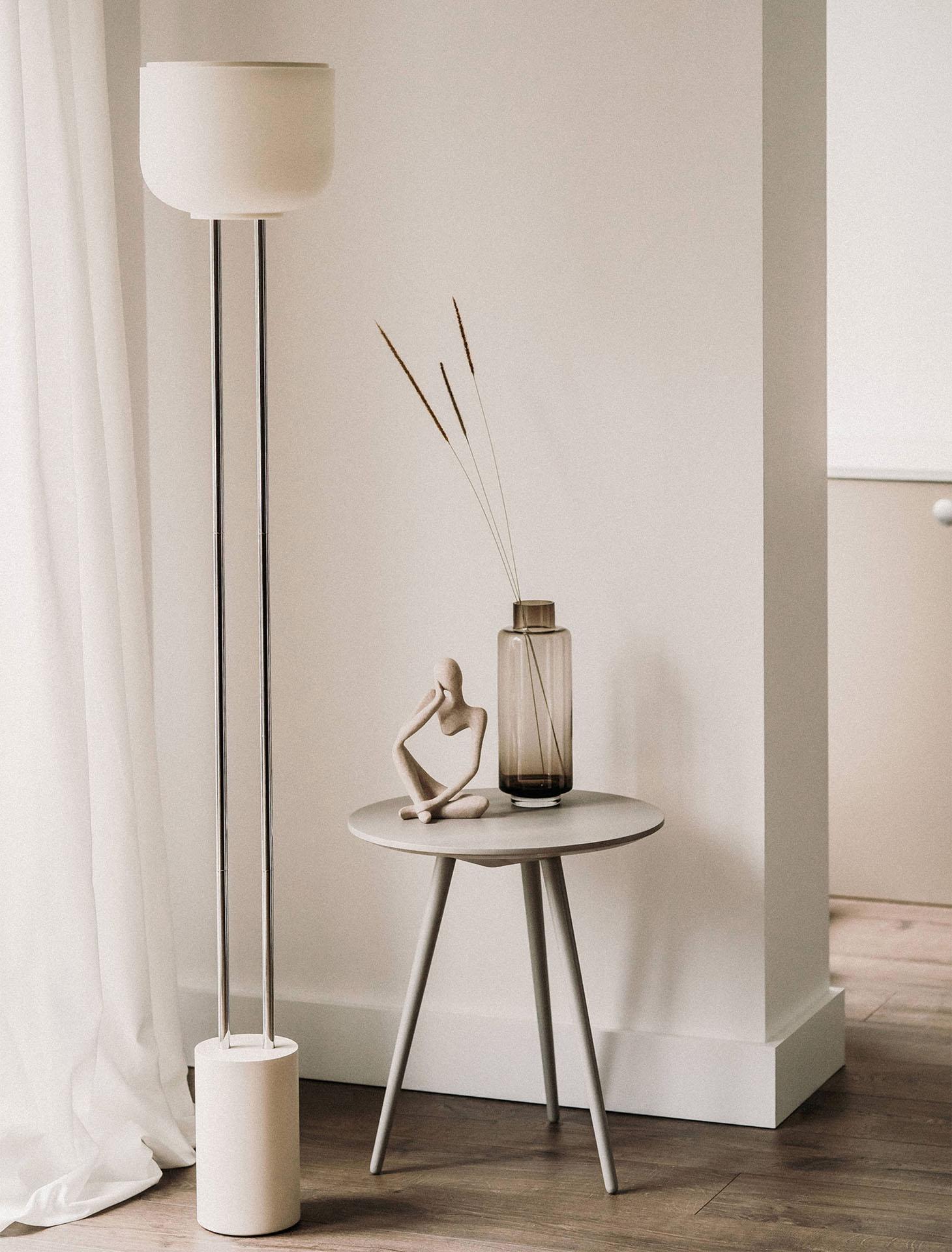 Arpeggio Floor Light for Gantri, in a minimal living room setting