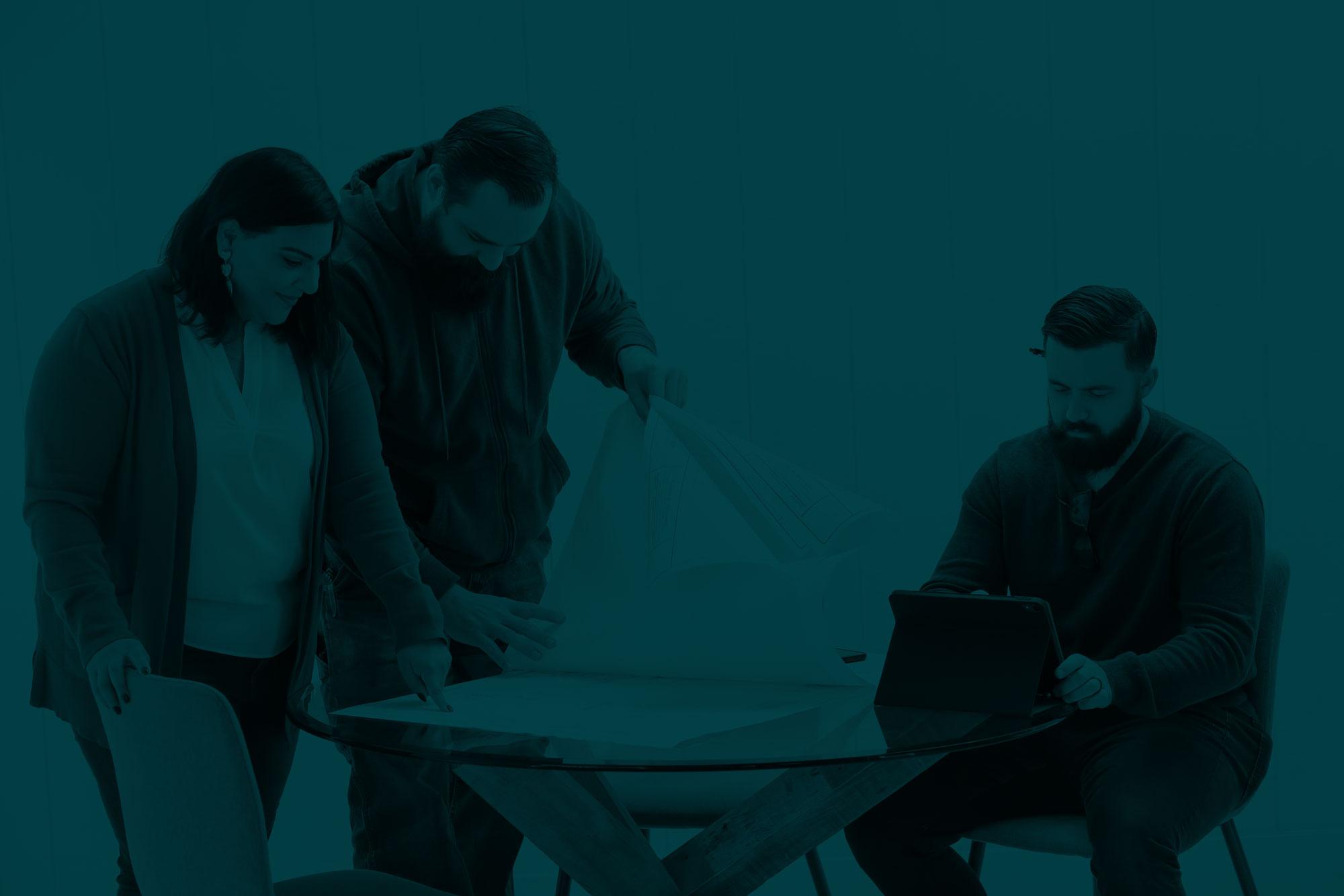 A group photo of the team at Brand Author including Zahra Cruzan, Ian Friedel and Keith Cruzan.