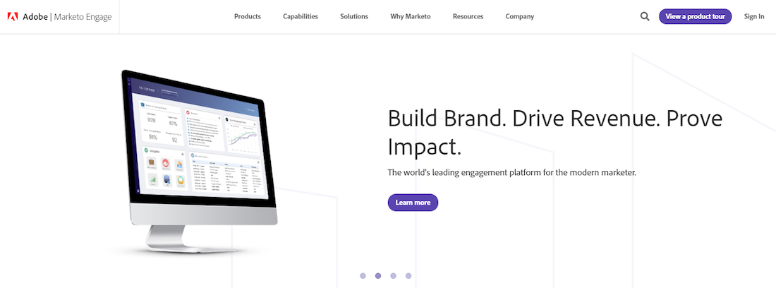 Marketo automation software landing page review