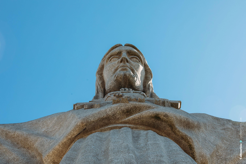 Detail of the Cristo Rei statue in Almada Lisbon Portugal