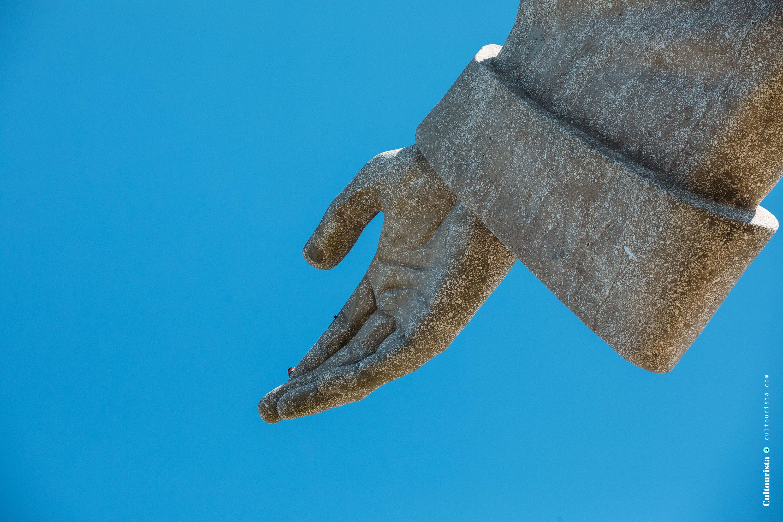 Hand of Cristo Rei statue in Almada Lisbon Portugal