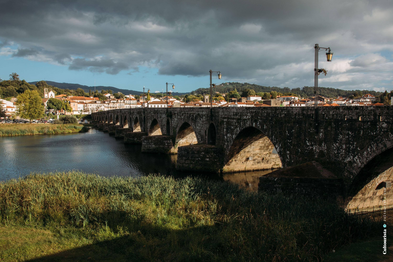 Roman bridge at the village Ponte de Lima in Portugal