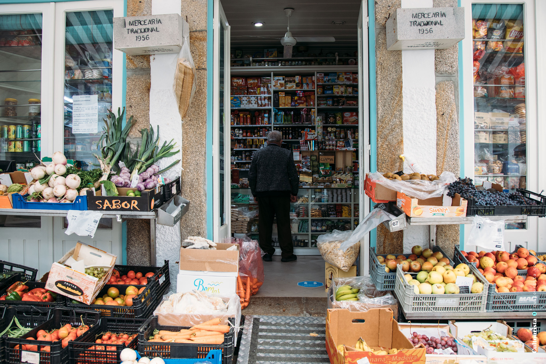Traditional food shop in Ponte de Lima
