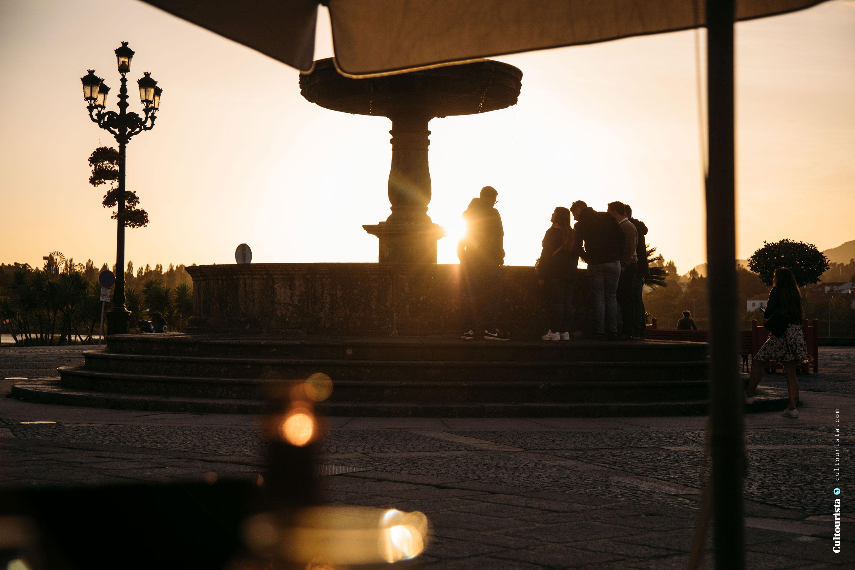 Sunset main square Ponte de Lima