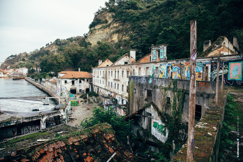 Quinta da Arealva ruin in Lisbon Almada Portugal