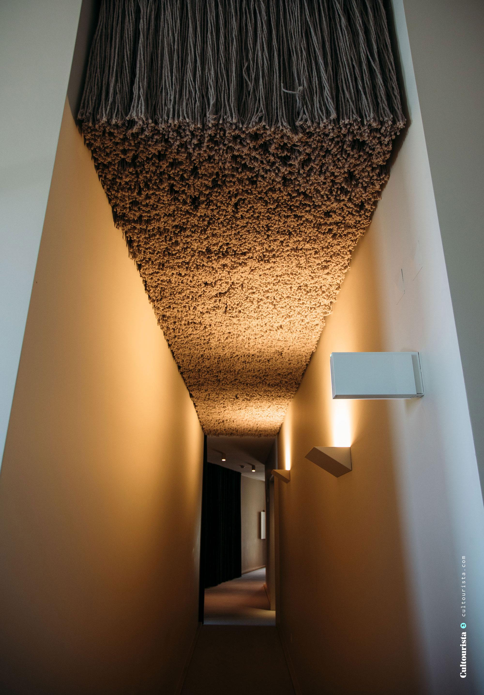 Corridor at the hotel Casa de Sao Lourenço in Serra da Estrela