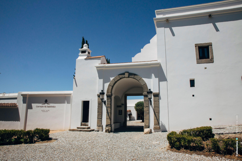 Entrance of the Hotel Convento do Espinheiro in Evora Alentejo