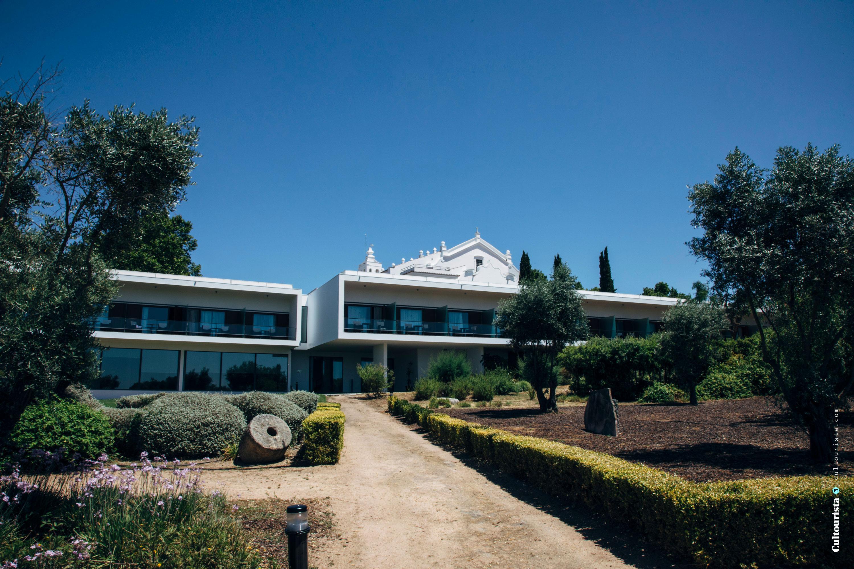 Modern building at the Hotel Convento do Espinheiro in Evora Alentejo