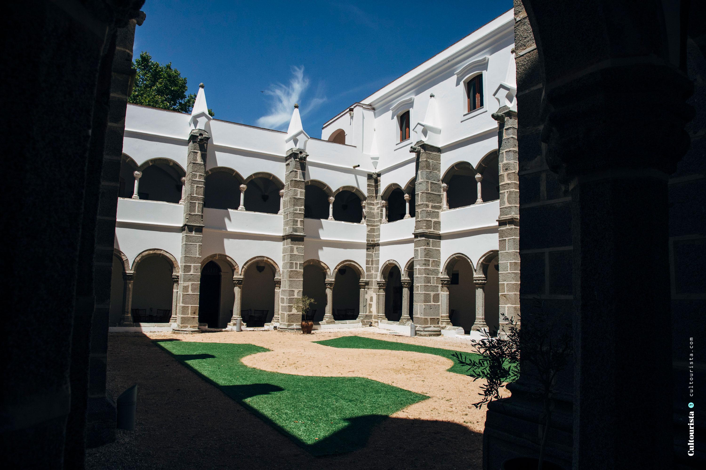 Terrace with arches at the Hotel Convento do Espinheiro in Evora Alentejo