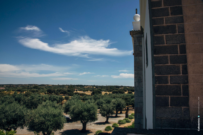 The landscape view from the Hotel Convento do Espinheiro in Évora Alentejo