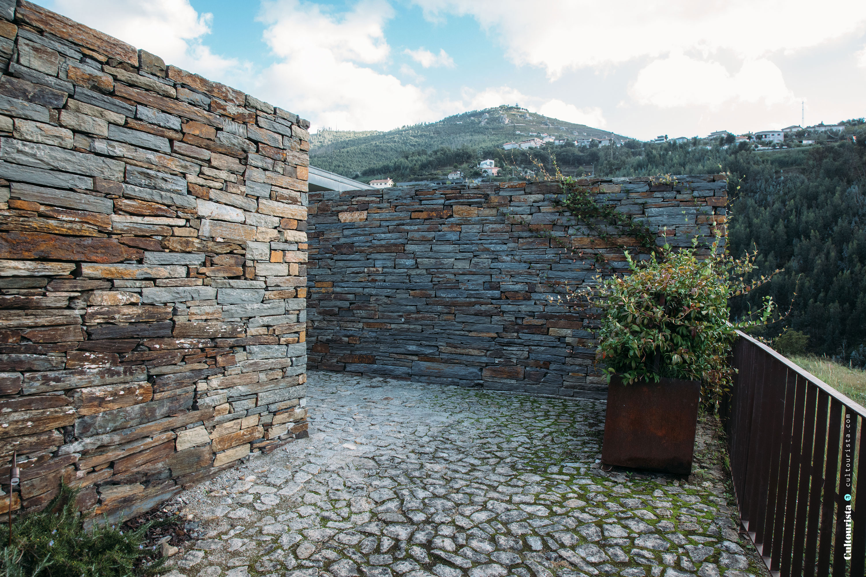 Exterior design wall at the Hotel Douro41 Portugal