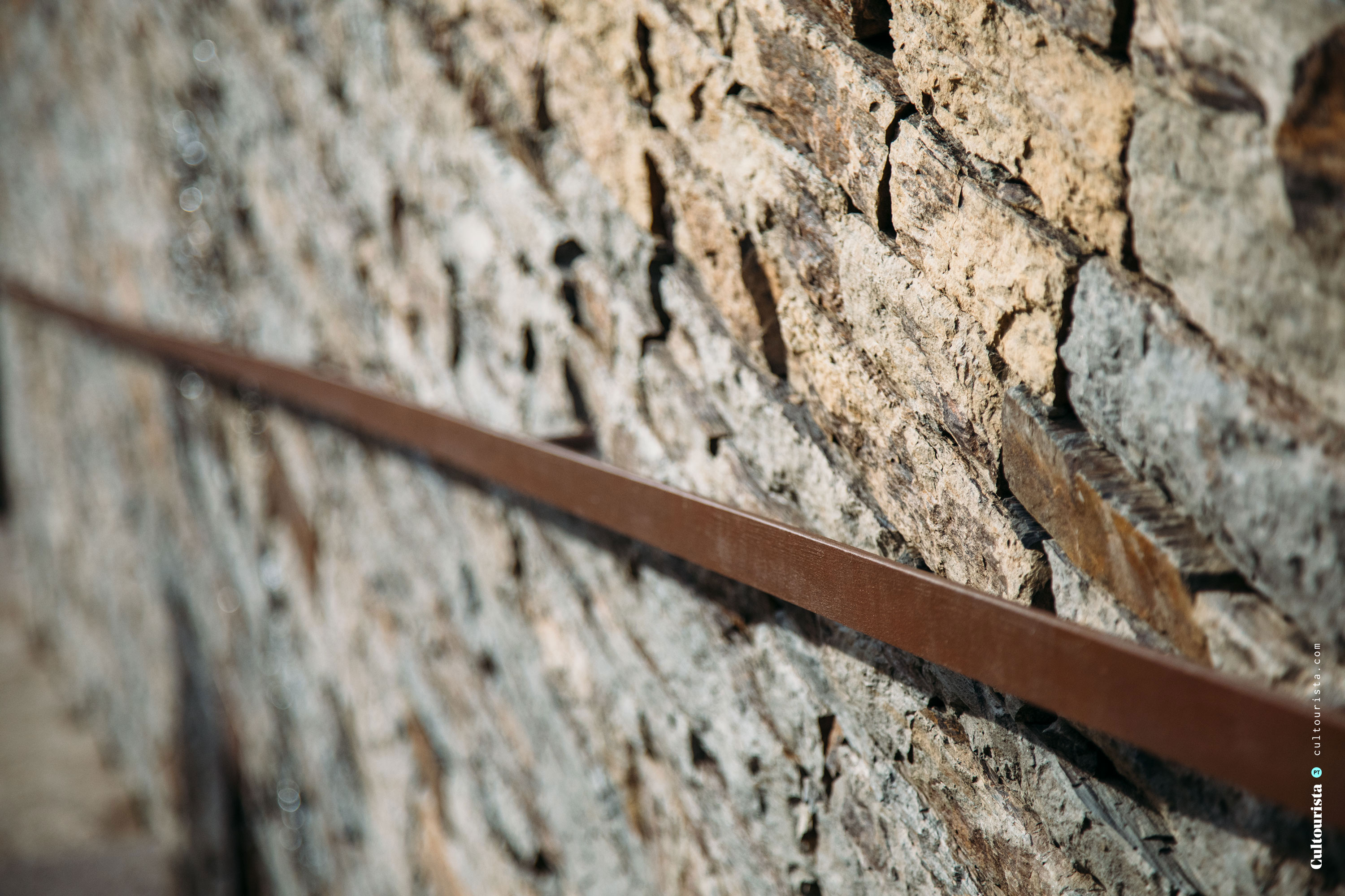 Detail of the exterior wall at the Hotel Douro41 Portugal