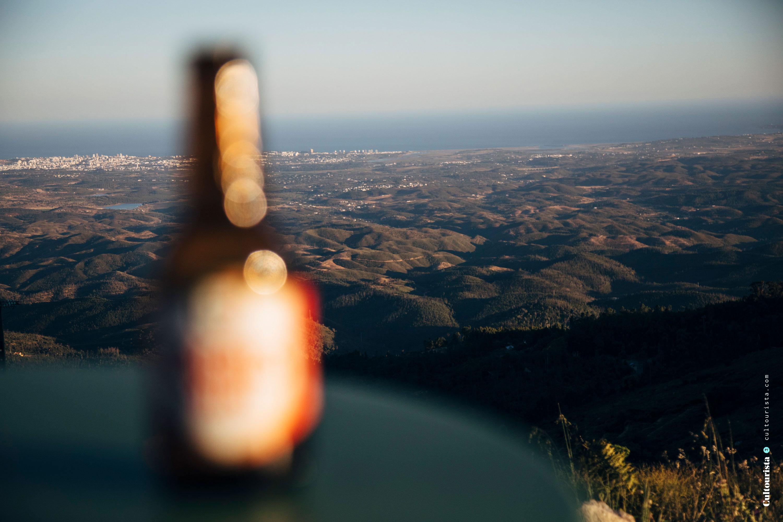 Sagres beer at campervan Alecrim at Foia Monchique Algarve