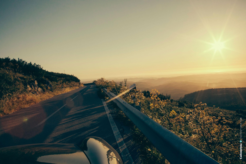Road in the sunset at Foia Monchique Algarve