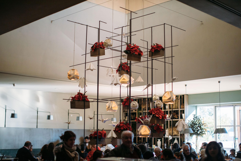 Interior design at the restaurant Este Oeste in Lisbon