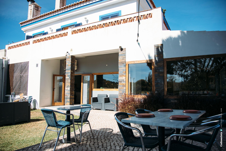 Terrace of the restaurant Varzea in Aljezur Algarve Portugal