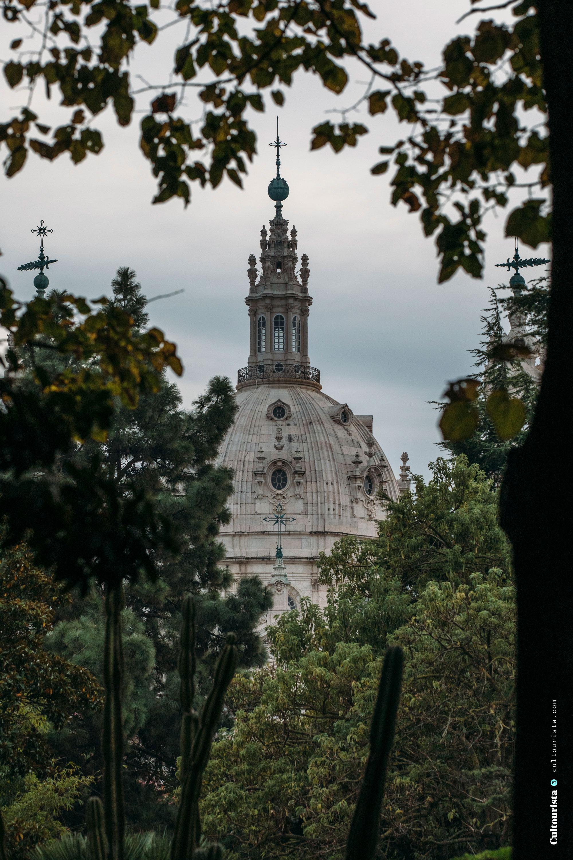 Basilica da Estrela from the park in Lisbon Portugal