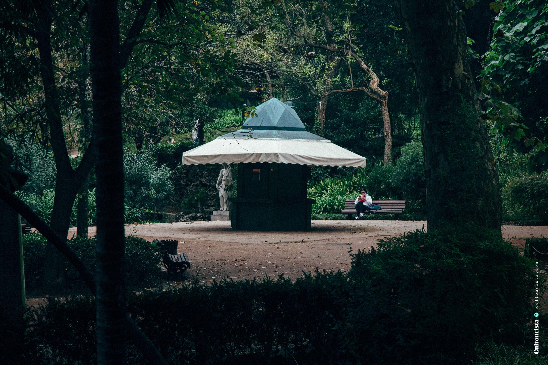 Kiosk at the Jardim da Estrela park in Lisbon Portugal