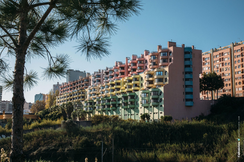 Buildings at the Bela Vista Park in Lisbon Portugal