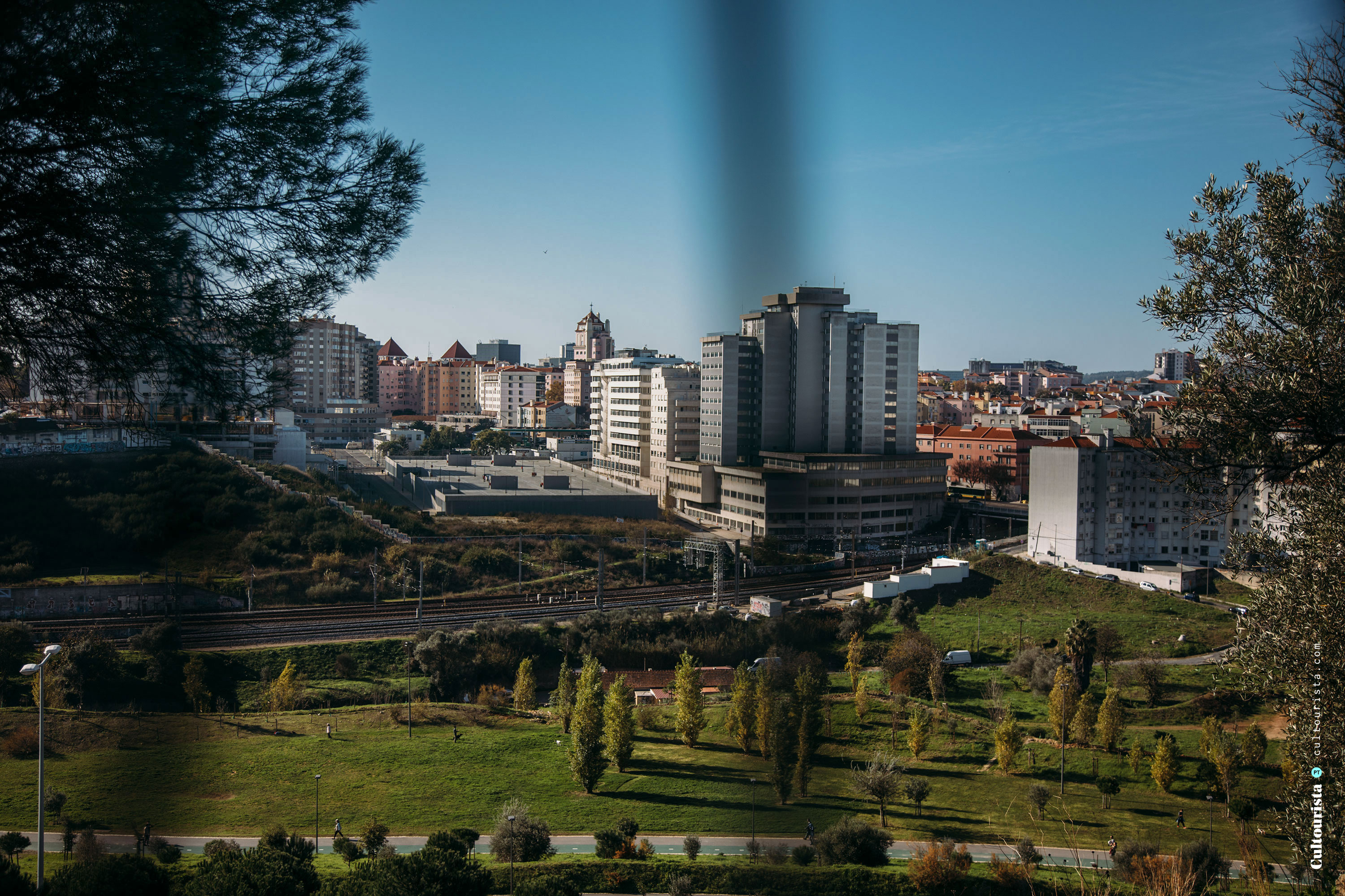 View from the Bela Vista Park in Lisbon Portugal