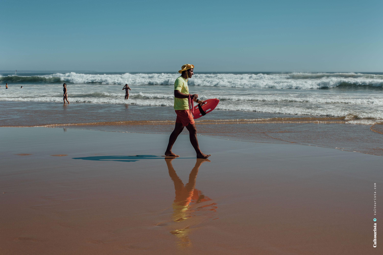 Life guard at the Costa da Caparica beaches