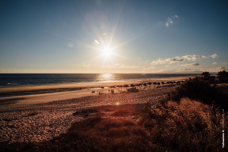 Sunset at the Costa da Caparica beaches
