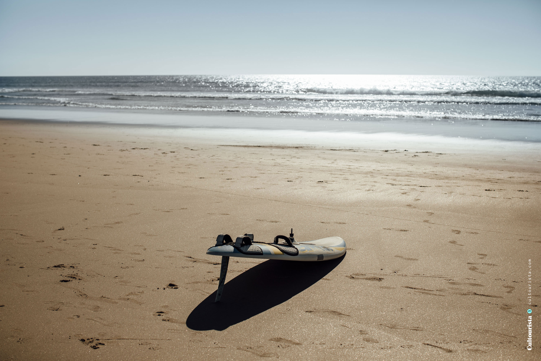 Surfboard beach Costa da Caparica