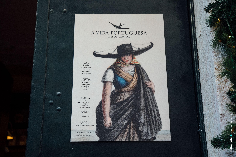 Poster outside A Vida Portuguesa shop