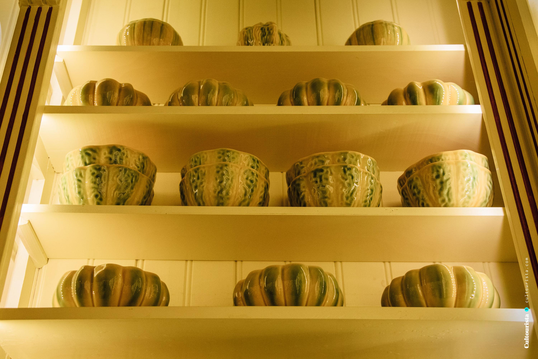 Bordalo Pinheiro ceramics inside A vida portuguesa shop