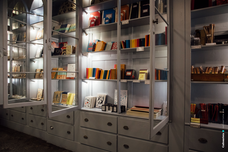 Glass cabinets inside A Vida Portuguesa Shop