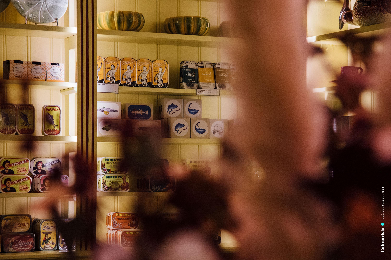 Shelves of products inside A Vida Portuguesa Shop