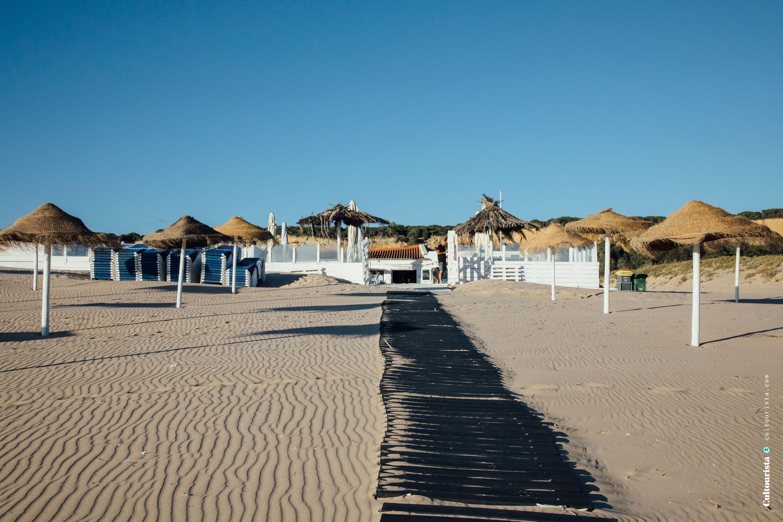 Beach bar in winter Costa da Caparica