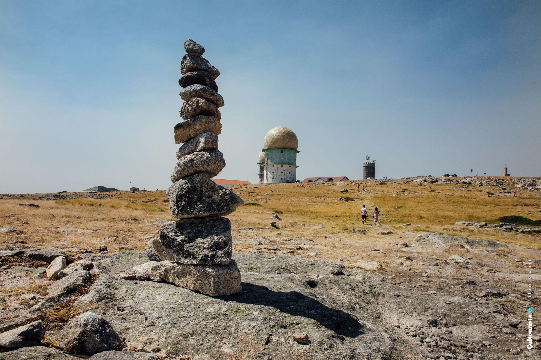 Pile of stones in Torre Serra da Estrela